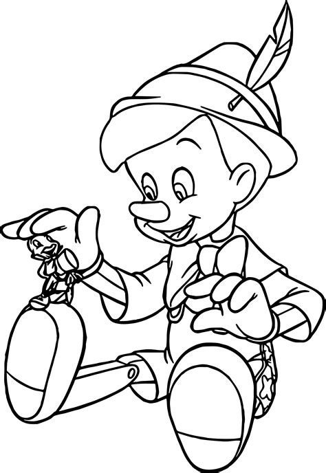 painting and coloring pinocchio coloring pages wecoloringpage