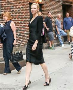 cate blanchett 44 opts for a long sleeved lbd for