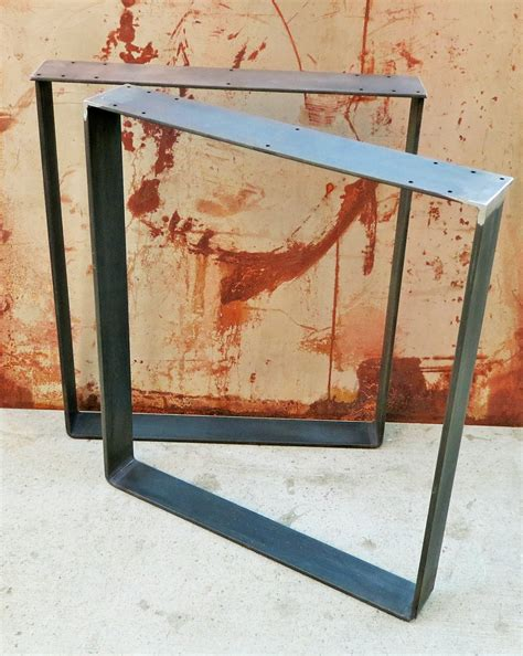 Flat Bar Table Legs Custom Order Metal Table Legs Flat Bar Squared