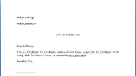 Authorization Letter Nric Title Of That Sounds Really But Actually Doesn T Anything At All Rant 744