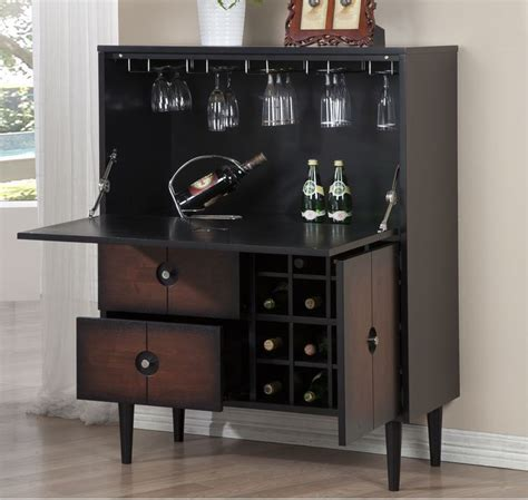 wine buffet storage cabinet cubbies rack drop down modern