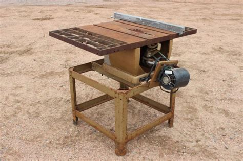 Craftsman 100 Table Saw by Lot 266 Vintage Craftsman 100 Table Saw W Motor