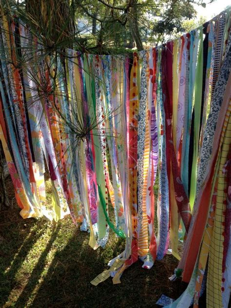 Bohemian Style Curtains Boho Curtain Or Garden Shade Materials Vintage Sheer Rag Ribbon Upholstery
