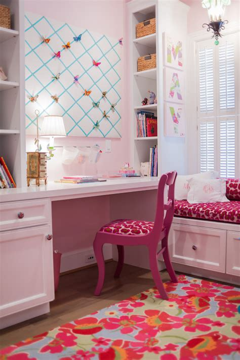 girls bedroom desk kids built in desk traditional girl s room