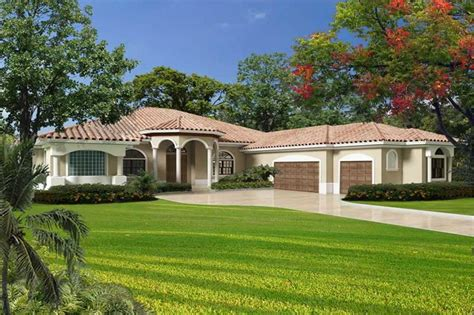florida style home plan 5 bedrms 3 5 baths 6114 sq ft