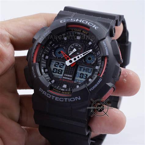 G Shock Gwp1000 Hitam Merah gambar g shock ga 100 1a4 hitam merah ori bm on 3