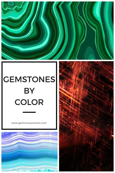 gemstone colors gemstone colors list of gemstones by color gem rock