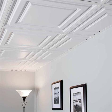 genesis ceiling tile genesis ceiling tile 2x2 icon relief tile in white