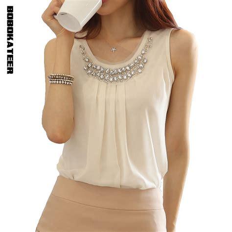 K Blouse bobokateer summer tops blouses 2017 blusas feminina chemise femme chiffon blouse plus size