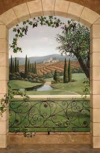Miniature Dollhouse Bathrooms by Tuscany Wine Room Mural Mediterranean Wine Cellar