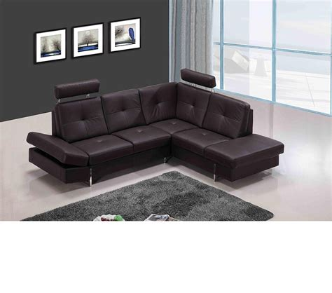 Leather Sectional Sofa by Dreamfurniture 973 Modern Brown Leather Sectional Sofa