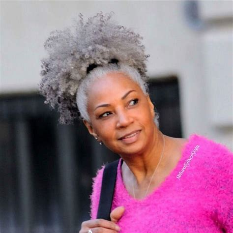 afro american gray hair 525 best images about crown glory grey hair on