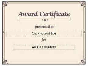 Formal Award Certificate Template by Certificate Border Studio Design Gallery Best