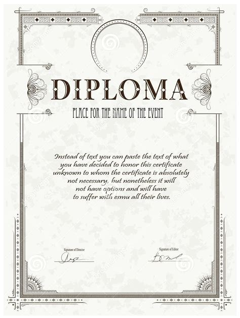 high school diploma templates for free free high school diploma templates choice image