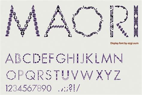 font design nz maori language fonts