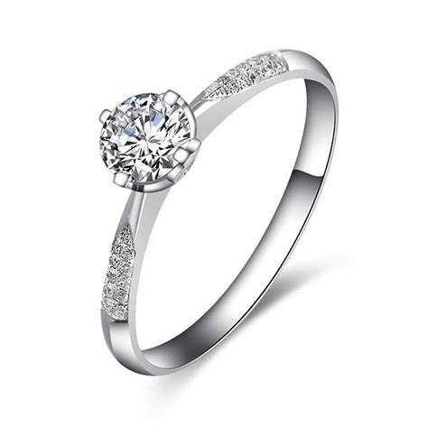 cheap engagement ring on white gold