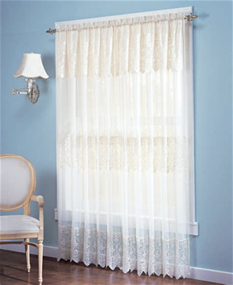 macys kitchen curtains no 918 joy lace curtain panel with attached valance