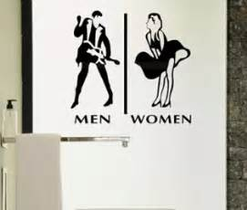Wall Sticker Company Aliexpress Com Buy Store Company Toilet Man And Woman Wc