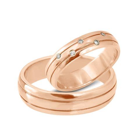 Hochzeitsringe Rosegold by Klenota Goldene Hochzeitsringe Mit Diamanten Ros 233 Gold