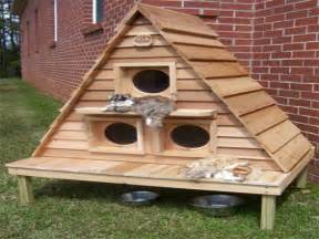 plans for outdoor winter cat houses outdoor cat house