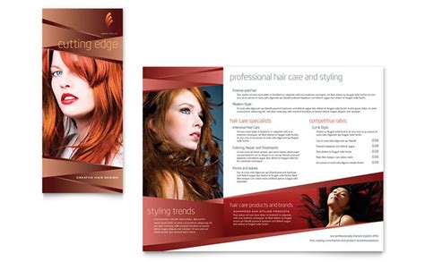 Hair Salon Brochure Templates hair stylist salon brochure template design