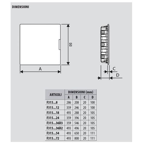 cassette per quadri elettrici bticino f315p24 centralino linea space 24 moduli su quadro