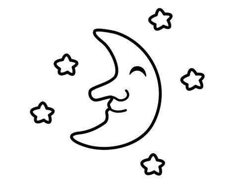 imagenes para colorear luna image gallery nube con estrella dibujo