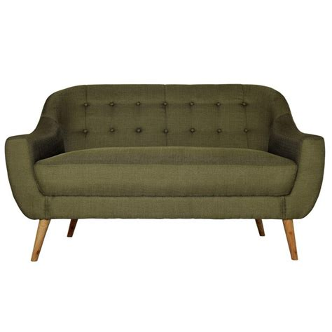 where to buy fabric for sofa buy hygena lexie retro 2 seater fabric sofa olive green