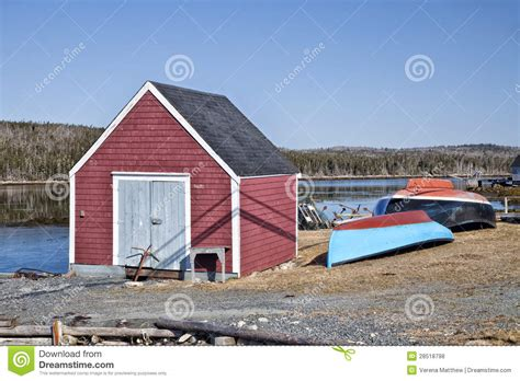 Fishing Sheds by Fishing Shed Scotia Royalty Free Stock Photos