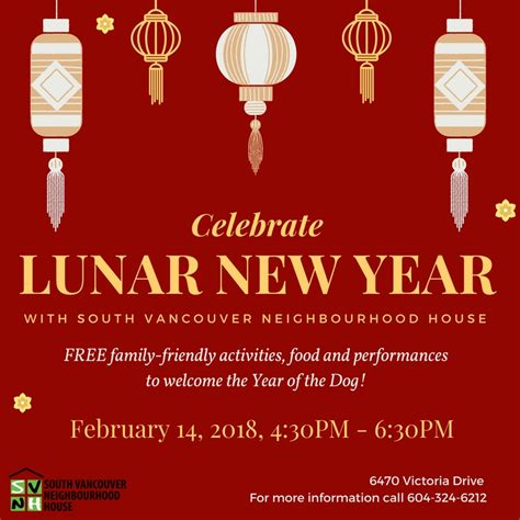 new year feb 14th south vancouver neighbourhood house lunar new year