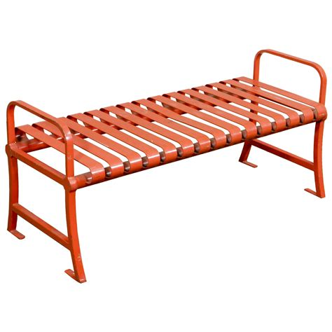 red metal bench bench slatted red metal 48 air designs
