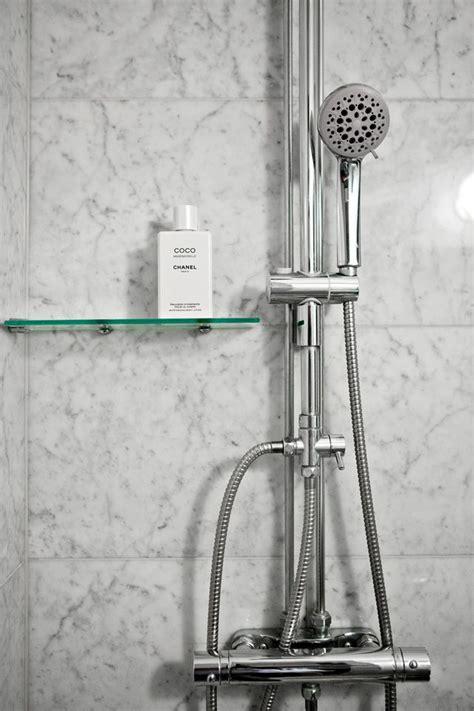 glass shower shelf interior designs
