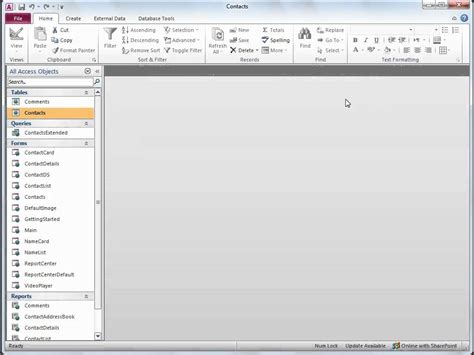 microsoft access templates 2010 microsoft office access 2010 modify the access 2010