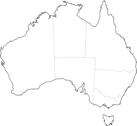 Australian Outline Map by Free Outline Maps Of Australia And World