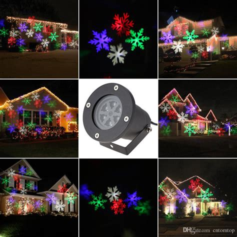 online cheap 4w rgbw 4led moving snowflake film christmas