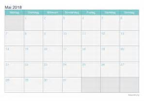 Kalender 2018 April Mai Kalender Mai 2018 Zum Ausdrucken Ikalender Org
