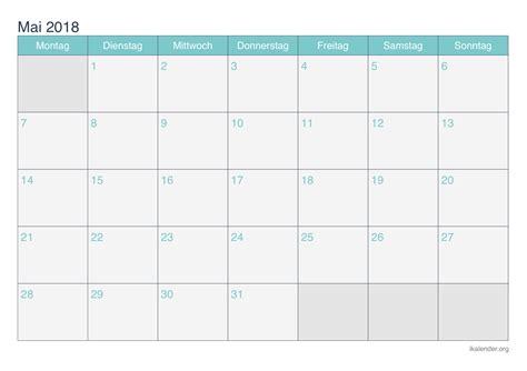 Mai 2018 Kalender Kalender Mai 2018 Zum Ausdrucken Ikalender Org