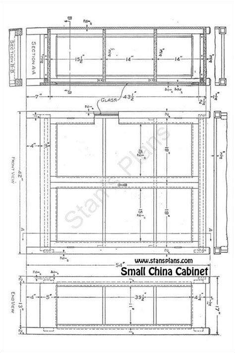 printable plans for a small china cabinet