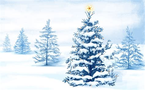 christmas snow trees wallpapers hd wallpapers