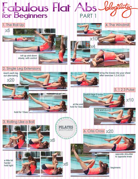 pilates bootc fabulous flat abs printable blogilates