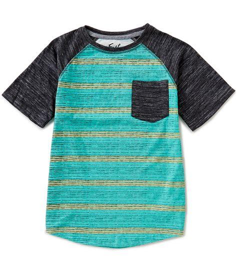 Kaos Polos Oblong Pocket Tees With Stripe Original Kh15 wave big boys 8 20 striped sleeve raglan pocket dillards