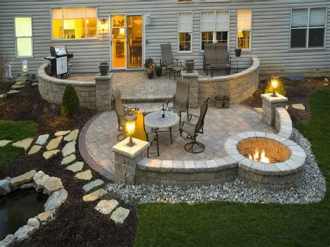 Stone Patterns For Patios Patio With Fire Pit Ideas Patio Patio Ideas With Firepit