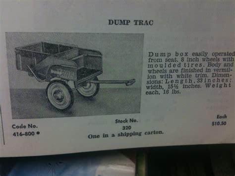 Murray Pedal Car Dump Trailer pedal car toys murray dump trac pedal tractor trailer