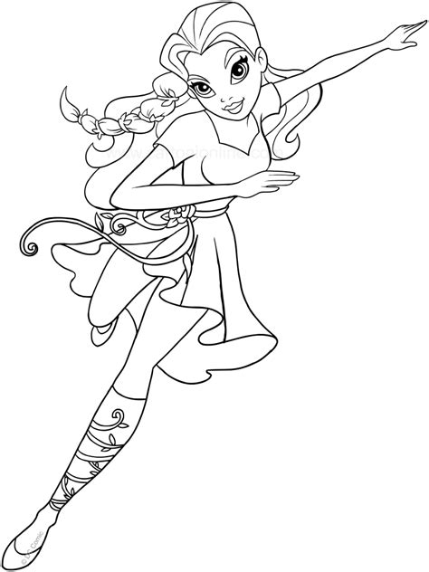 coloring pages vire girl poison ivy free coloring page kids movies superheros