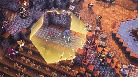 minecraft dungeons  add cross play  week rock