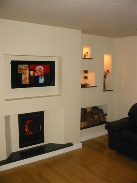 Tv Above Wood Burning Fireplace by 25 Best Ideas About Inset Stoves On Inset Log