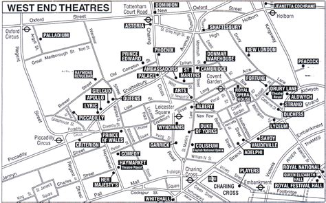 london s theatre district is located in which section of london london theatre map london theatre pinterest london