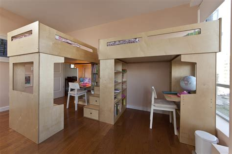 Decoist Bunk Beds Two Dumbo Loft Beds Storage Stairs Decoist
