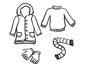 coloring page winter clothes download