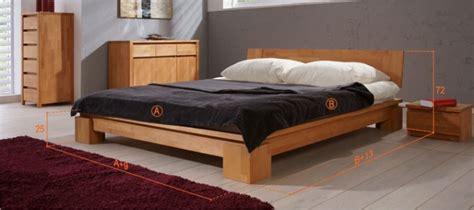 lit 160 bois lit en bois massif vinci chambre 224 coucher adulte